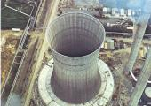 Historical shooting of a SCAM S.p.A. natural draft cooling tower