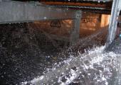 Distribuzione dell'acqua a pianta quadra con ugelli rotanti